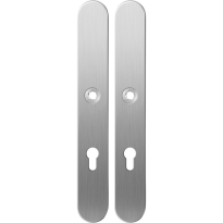 Long backplate XL GPF1100.70 72PZ satin stainless steel