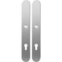 Long backplate XL GPF1100.70 85PZ satin stainless steel