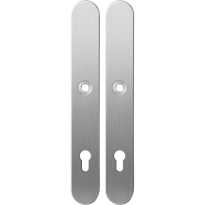 Long backplate XL GPF1100.70 92PZ satin stainless steel