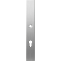 Long backplate XL GPF1100.75L 72PZ left handed satin stainless steel