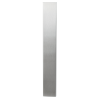 Long backplate XL GPF1200.75 blind without latch satin stainless steel