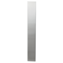 Long backplate XL GPF1200.75 satin stainless steel