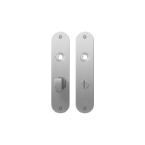Flat backplate GPF1100.12 bathroom 57/5 big knob satin stainless steel