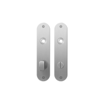 Flat backplate GPF1100.12 bathroom 72/8 big knob satin stainless steel