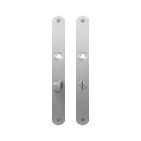 Flat backplate GPF1100.23 bathroom 63/8 normal knob satin stainless steel
