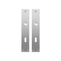 Flat backplate GPF1100.26 lock 72 satin stainless steel