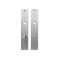 Flat backplate GPF1100.26 bathroom 72/8 normal knob satin stainless steel