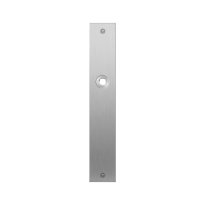 Flat backplate GPF1100.27L/R blind left-/right handed satin stainless steel