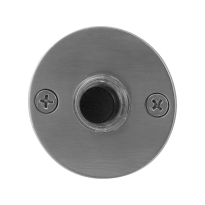 Doorbell with black button GPF9826.06 round 50x2 mm satin stainless steel