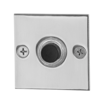Doorbell with black button GPF9826.48 square 50x50x2 mm polished stainless steel