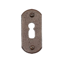 Keyhole escutcheon FB708 stretta 33x65mm rust