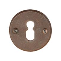 Keyhole escutcheon FB711 tonda 50mm rust