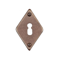 Keyhole escutcheon FB716 rombo 45x70mm rust