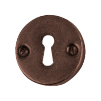 Keyhole escutcheon FB734 tonda scatolata 50mm rust