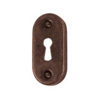 Keyhole escutcheon FB738 scatolata 34x70mm rust
