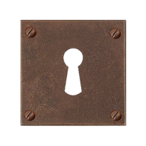 Keyhole escutcheon FB752 quadrata 50x50mm rust