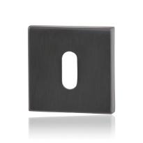 Keyhole escutcheon GPF0901.02P1 50x50x8mm PVD antracite