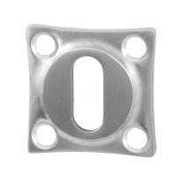 Keyhole escutcheon GPF0901.09 38x38x5mm satin stainless steel