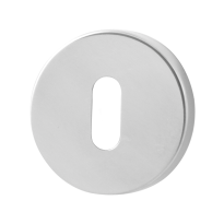 Keyhole escutcheon GPF0901.40 50x8mm polished stainless steel