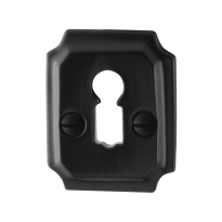 Keyhole escutcheon GPF6901.02 48x40x6mm wrought iron black