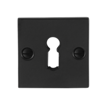 Keyhole escutcheon GPF6901.08 52x52x4mm wrought iron black