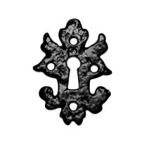 Keyhole escutcheon KP1064 82x60mm wrought iron black