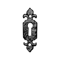 Keyhole escutcheon KP1493 80x26mm wrought iron black
