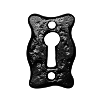 Keyhole escutcheon KP1501 46x30mm wrought iron black