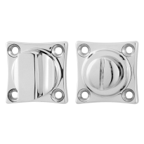 Turn and Release set GPF0911.49 38x38x5mm spindle 5mm polished stainless steel large knob