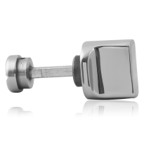 Turn and Release set GPF1111.49 spindle 5mm polished stainless steel large knob