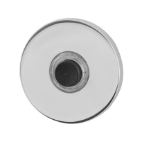 Doorbell with black button GPF9826.45 round 50x6 mm polished stainless steel
