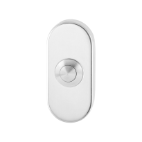 Doorbell with stainless steel button GPF9827.44 oval 70x32x10 mm polished stainless steel