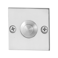 Doorbell with stainless steel button GPF9827.48 square 50x50x2 mm polished stainless steel