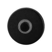 Doorbell with black button GPF8826.09 round 50x8 mm black