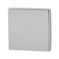 Blind rose GPF0900.42 50x50x8mm polished stainless steel