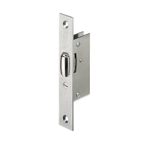 Roller bolt lock Lips 2072R stainless steel satin front plate