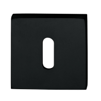 Keyhole escutcheon 1161/B Telis 50x50x7mm black