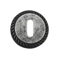 Keyhole escutcheon 1351/B 51x10mm antique chrome