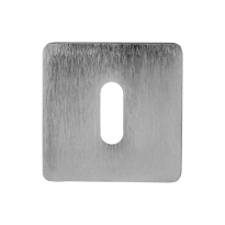 Keyhole escutcheon 6031/B 50x50x6mm satin chrome