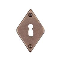 Keyhole escutcheon FB716 rombo 45x70mm rust