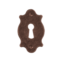 Keyhole escutcheon FB748 foro 65x40mm rust