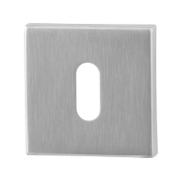 Keyhole escutcheon GPF0901.02 50x50x8mm satin stainless steel