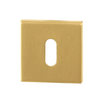 Keyhole escutcheon GPF0901.02P4 50x50x8mm PVD satin brass