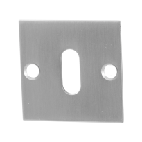 Keyhole escutcheon GPF0901.08 50x50x2mm satin stainless steel