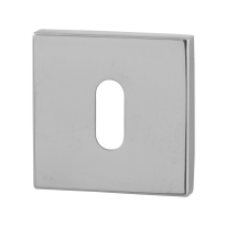 Keyhole escutcheon GPF0901.42 50x50x8mm polished stainless steel