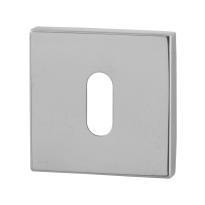 Keyhole escutcheon GPF0901.42 50x50x8mm polished stainless steel