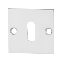Keyhole escutcheon GPF0901.48 50x50x2mm polished stainless steel