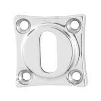 Keyhole escutcheon GPF0901.49 38x38x5mm polished stainless steel