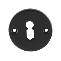 Keyhole escutcheon GPF6901.00 53x5mm wrought iron black