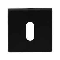 Keyhole escutcheon GPF8901.02 50x50x8mm black